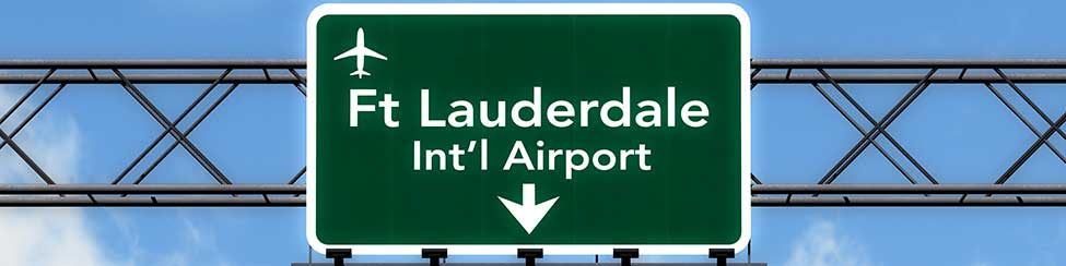 Fort Lauderdale Airport Sign